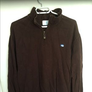 Southern tides brown half zip size XL